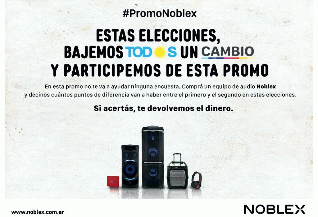 Promo Elecciones Noblex