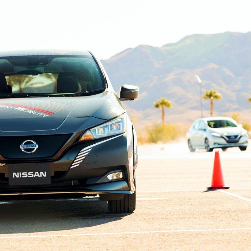Nissan e-4orce en pista de prueba del CES 2020