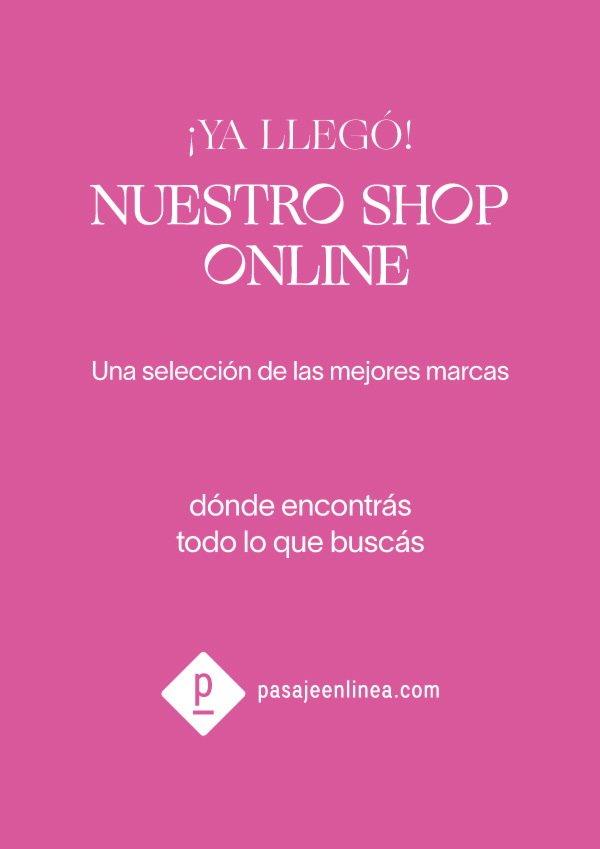 e flyer de pasajeenlinea.com, el primer shopping on line de argentina