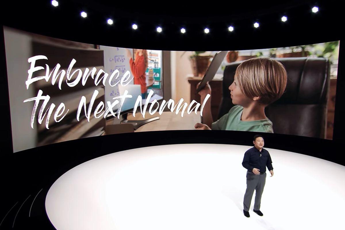 Dr. TM Roh, presidente y jefe de negocios de comunicaciones móviles de Samsung Electronics en el Galaxy Unpacked 2020