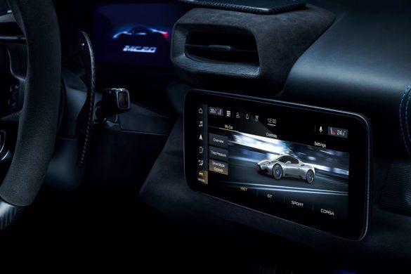 Pantallas interiores del Maserati MC20