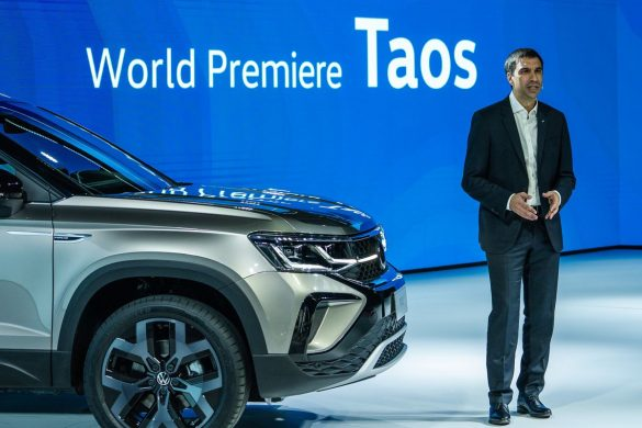Martin Massimino en la world premiere de VW Taos