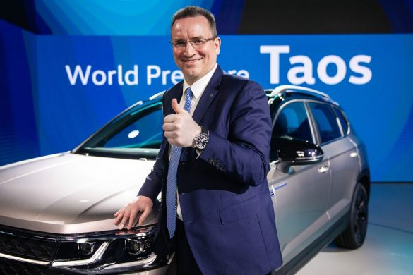 Thomas Owsianski en la world premiere de VW Taos