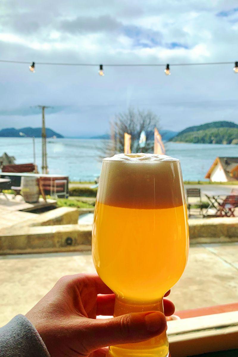 Nueva Kunstmann imperial neipa en la Cervecería de Bariloche