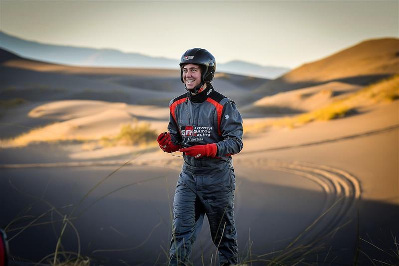 TJ.C Yacopini, piloto oficial del Toyota Gazoo Racing Argentina en el dakar 2021