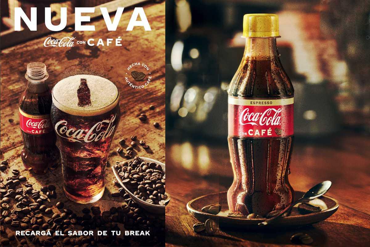 Botella de nueva Coca-Cola con Café