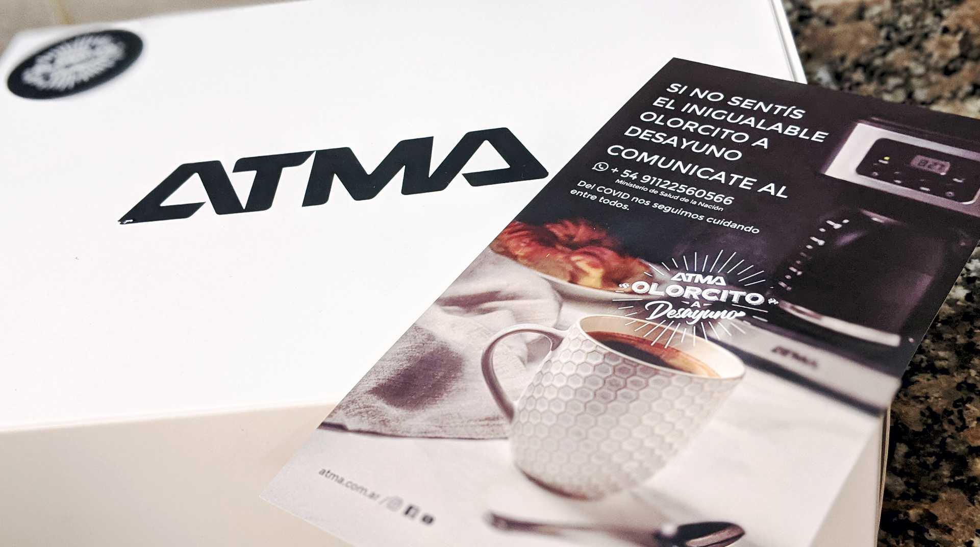Giftbox de Tentate o testeate, la campaña de Atma con Olorcito a Desayuno
