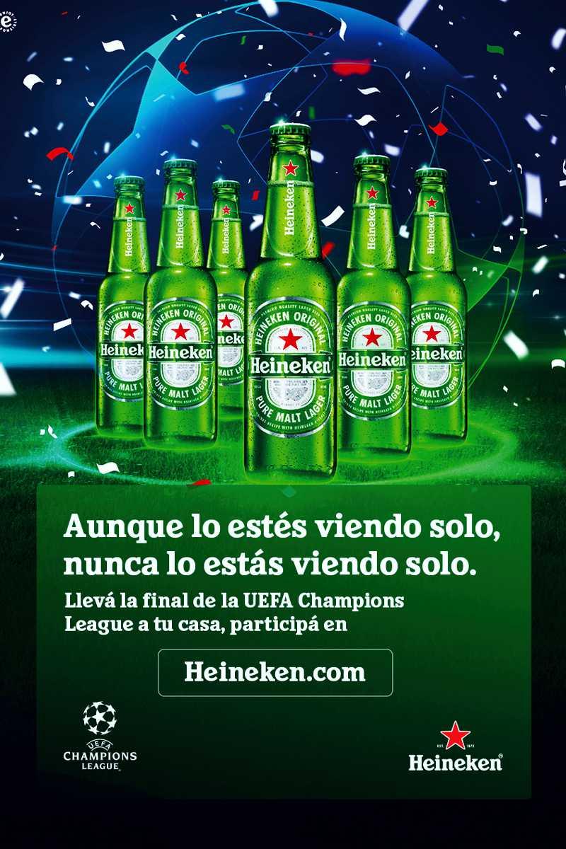 Heineken, patrocinador oficial de la UEFA Champions League