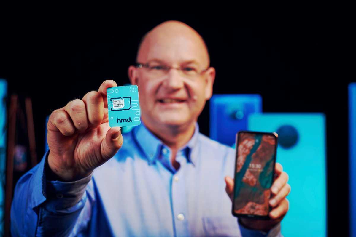 Florian Seiche, CEO de HMD Global en el lanzamiento de los nuevos teléfonos Nokia 2021