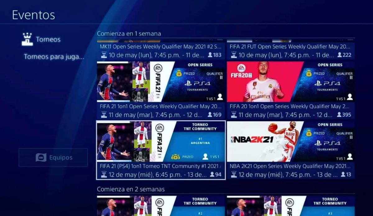 torneo de E-Sports FIFA 21 TNT Sports