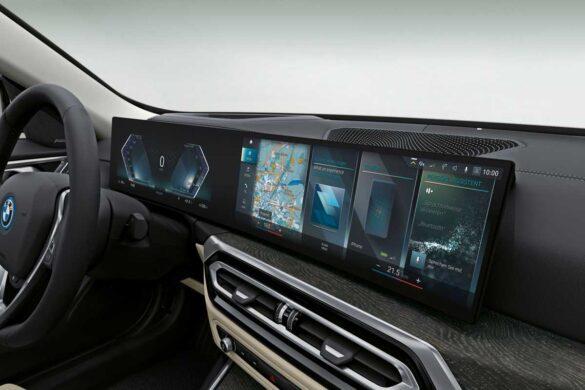BMW I4 pantallas