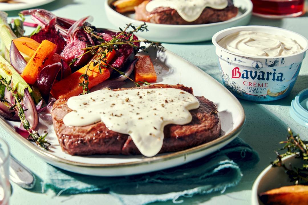 Nueva Creme de queso azul Bavaria en comidas